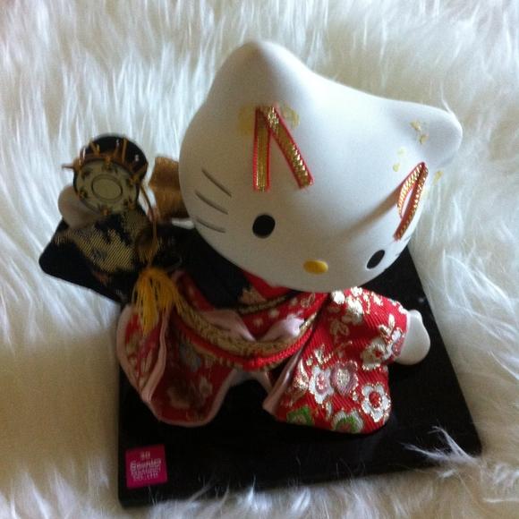 32bd4ba7e Hello Kitty Other - Ceramic Hello Kitty Kimono Japanese Figurine